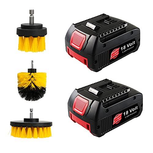 VOLT1799 2 x 18 Volt 5500 mAh Li-ion Akku Bosch BAT609G BAT618 BAT618G BAT619 BAT619G BAT622 BAT620-2PK SKC181-202L