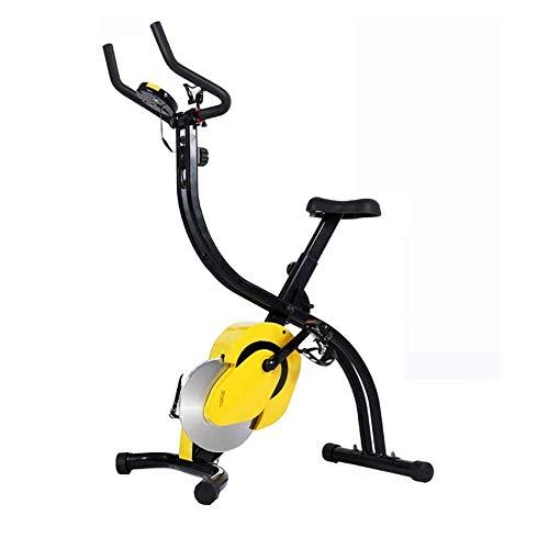 CHENYE Plegable Bicicleta estática, magnético Vertical de Bicicletas, Bicicletas de Entrenamiento Compacto con 8 Niveles de Resistencia y Soporte de la Tableta y Amplio y Confortable Asiento