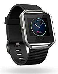Fitbit Blaze Smart Fitness Watch, Black, Silver, Large - best smart watch for nurses with fitness tracker features