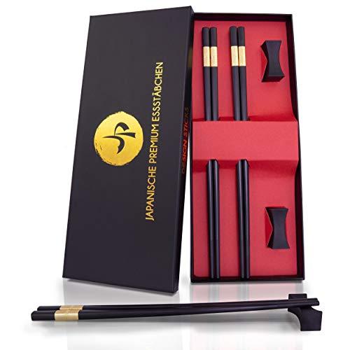 JP Design Juego de 2 palillos chinos japoneses premium en una elegante...