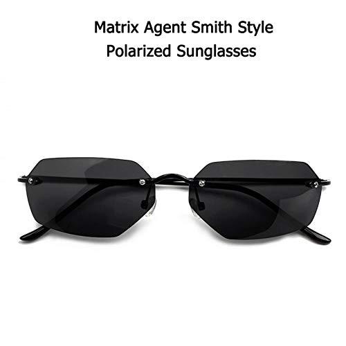 SHENY Sonnenbrille Vintage Classic Die Matrix Agent Smith Style Polarisierte Sonnenbrille Cool Rivets Men Driving Fashion Brand Design Sonnenbrille Matrix Smith Style