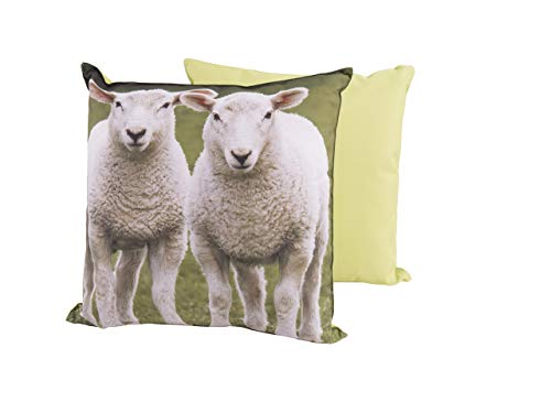 CB Home & Style Outdoor Garten Kissen Wasserabweisend 45 x 45 cm Dekokissen Tiere Schafe Kühe (SchafeDes2)