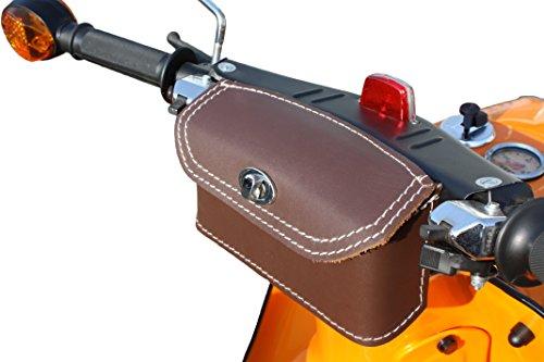 Leder Lenkertasche Tasche Packtasche Braun für Simson Schwalbe KR50 KR51 KR51/1 KR51/2