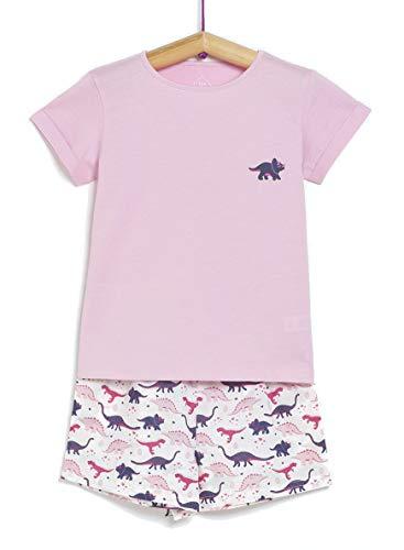 TEX 3616181468132 Juego de Pijama, Rosa Bebé, 7-8 años para Niñas