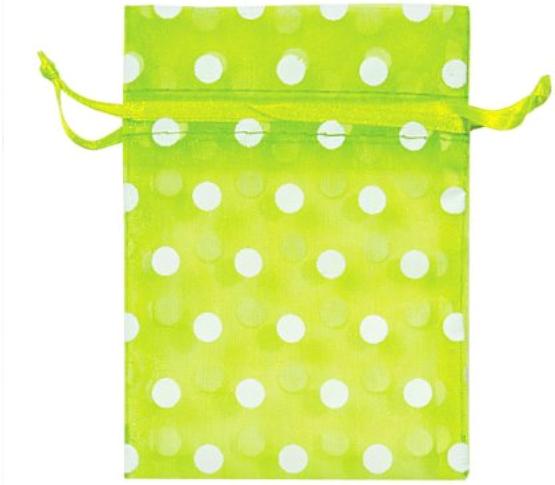 Citrus Cheer & Weiß Dots 7,6 x 10,2 10,2 10,2 cm Polka Dot Organza bags10 Pack B00K4V3L9M    | Modernes Design  aeb36e