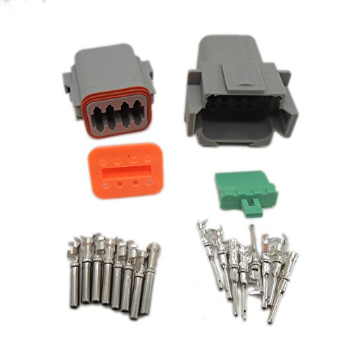 062d55b7021362 1 sets Kit Deutsch DT 8 Pin Waterproof Electrical Wire Connector plug Kit  22-16AWG