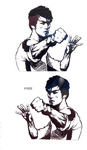 Bruce Lee kungfu martial art temporary tattoo Vintage Tattoo neck back shoulder