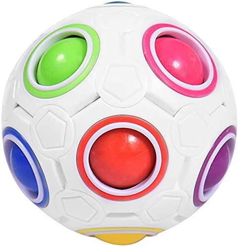 LSONE Magic Ball Regenbogen Ball, WüRfel Regenbogenball Toy PäDagogische Spielzeug, ZauberwüRfel 3D Puzzle Ball Speed Cube FüR Kinder & Erwachsene, Figetttoys