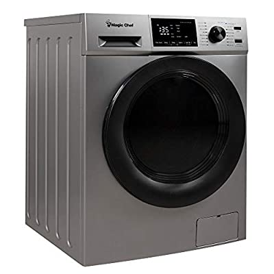 Magic Chef MCSCWD27S5 2.7 Cubic Foot Front Load Washing Washer And Dryer Machine Combo Combination Appliance, Silver