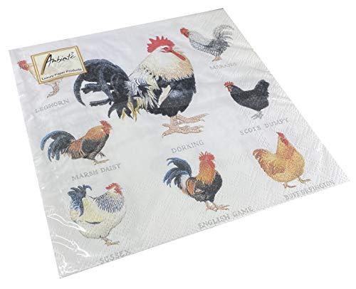 Servilletas de papel para almuerzo, fiestas, aprox. 33 x 33 cm, para...
