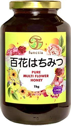 『純粋』百花はちみつ 1kg 大瓶「ライチー&ロンガンの濃厚コクうま」ファンクティア functia Pure Multi Flower Honey 1kg