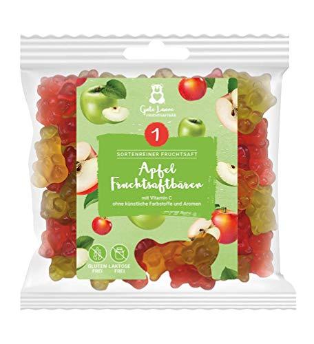 naschlabor x Fruchtsaftbär mit Herz   Apfel   20% sortenreine Fruchtsäfte   Ohne künstliche Farbstoffe und Geschmacksverstärker  Gluten- und Laktosefrei