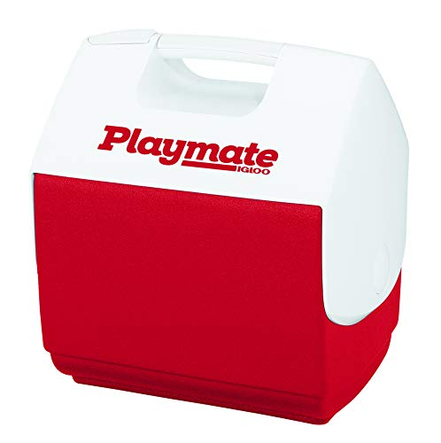 Igloo Red White, Playmate Pal 7 Quart Personal Sized Cooler, 11.75 x 8.25 x 12-Inch, 7 Qt