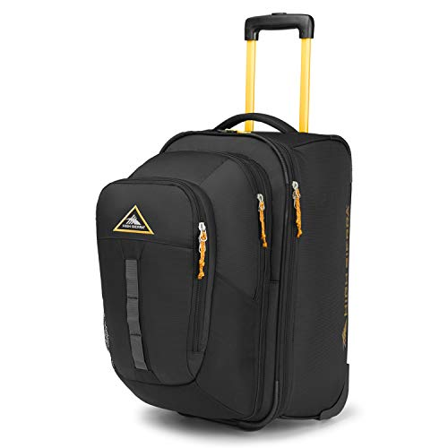 High Sierra Pathway Carry-On Wheeled Upright With Removable Daypack Black/Gold