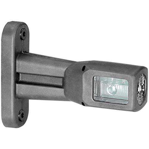 HELLA 2XS 011 768-021 LED Gummiarm-Umrissleuchte mit integrierter Seitenmarkierungsleuchte, kurz, EasyConn 2-pol. Steckergehäuse, 500 mm Leitung