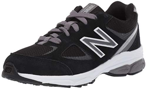 New Balance Kid's 888 V2 Lace-Up Running Shoe, Black/Grey, 4.5 M US Big Kid