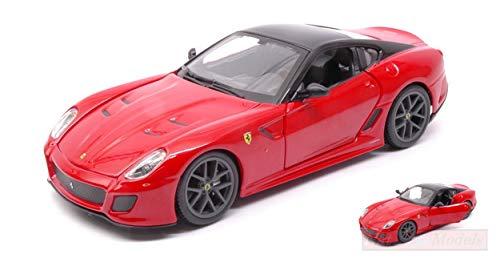 Burago BU26019R Ferrari 599 GTO (Gran Turismo Omologata) 2010 Red 1:24 Die Cast Compatible con