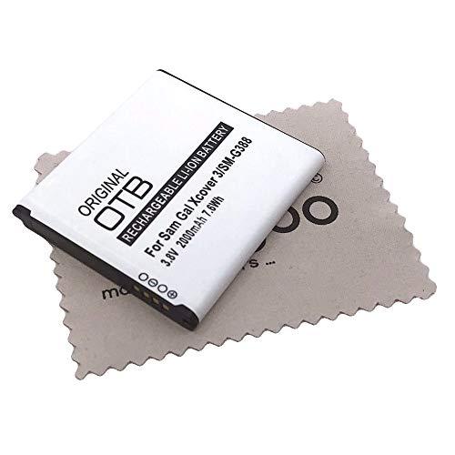 Ersatz Akku für Samsung Galaxy Xcover 3 (G388F) (Ersetzt Originalakku EB-BG388BBE) OTB mit mungoo Displayputztuch