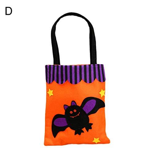 EDQZ Handtasche Beutel Party Decor Halloween K¨¹rbis Candy Tote Bag Vliesstoffe - Flederm?use