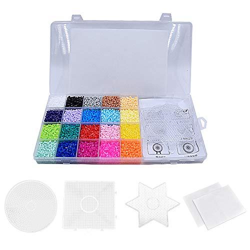 Beetest 11000 PCS 2.6mm Mini Water Fuse Beads Craft Beading Kit per Bambini Fai da Te Artigianato Progetto Giocattoli Educativi