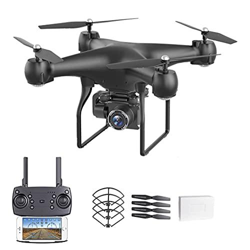 JJDSN Droni con Fotocamera: Il Drone è Dotato di Una Fotocamera 4K ad altissima Definizione, Regolazione elettrica 120 Gradi;Quadricottero WiFi grandangolare, con sensore di gravità, Controllo vo