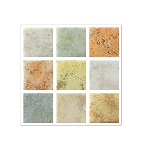 Allence - Adhesivos decorativos para pared, 20 unidades, para baldosas y suelo, para cocina, cuarto de baño