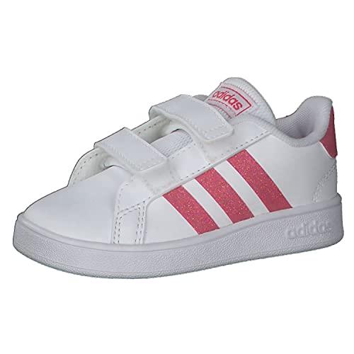 adidas Grand Court I, Scarpe da Ginnastica, Ftwr White/Real Pink s18/ftwr White, 26 EU