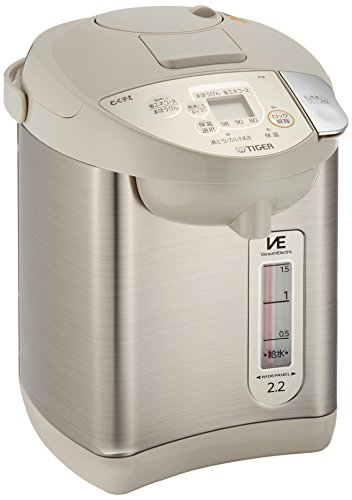 "Tiger electric & air hot water electric pot ""VE electric thermos Noriko-san"" (2.15L) beige PIK-A220-C"