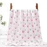 N\C Stoff Baby Badetuch Baumwolle Seersucker Gaze Quilt Neugeborene Handtuch Quilt Baby Bad Handtuch Decke