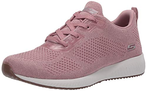 Skechers Bobs Squad-Glitz Maker, Zapatillas para Mujer, Rosa (Pink Sparkle Engineered Knit Pnk), 41 EU