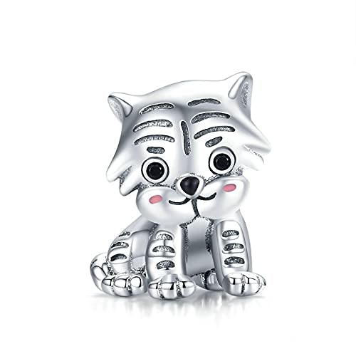 Diy 925 Sterling Jewelry Charm Beads Tiger Make Original Pandora Necklaces Bracelets And Anklets Gifts For Women