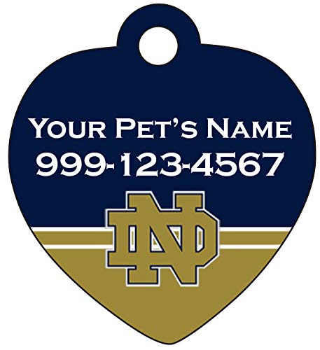 uDesignUSA Notre Dame Fighting Irish Pet Id Tag for Dogs & Cats Personalized w/Name & Number