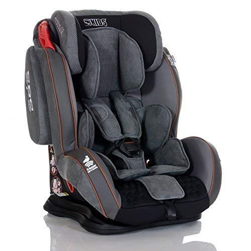 LCP Kids GT Auto Kindersitz 9-36 kg Liegefunktion SPS Seitenschutz System Grau