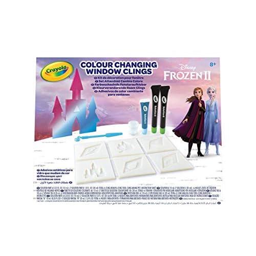 Set Attacchini Cambia Colore Disney Frozen 2, per creare adesivi in gel per vetri e finestre