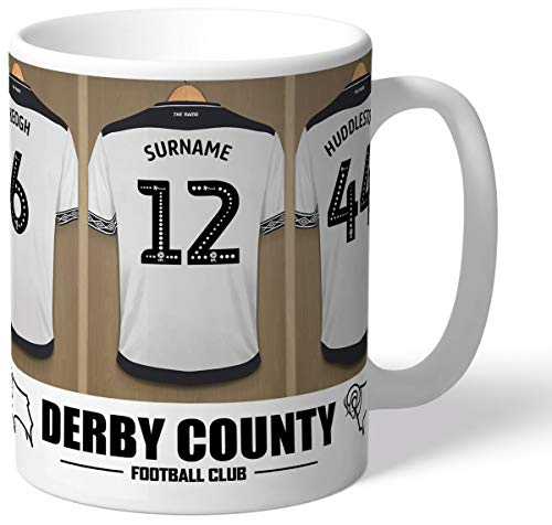 Personalised Derby County Dressing Room Shirts Mug