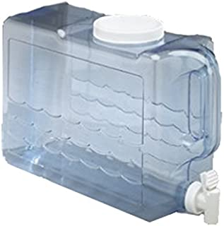 Arrow Home Products Slimline Beverage Container, 2.5-Gal, Clear-White Top/Spigot