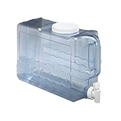 Arrow Home Products Beverage Container, 1.25-Gal, Clear-White...