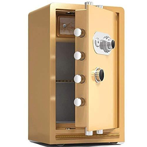 Cajas fuertes-XHZ Caja Fuerte Ignífuga De Acero con Ruedas, Caja Fuerte Mecánica Empresa/Hogar, Altura 80cm, 3 Colores (Color : Gold)