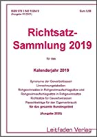 Richtsatz-Sammlung 2019: Ausgabe 2020