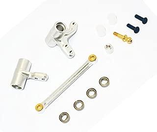 HPI BULLET3.0 MT ST KEN BLOCK WR8 FLUX Upgrade Parts Aluminum Alloy Steering Assembly Bellcrank-1SET Silver