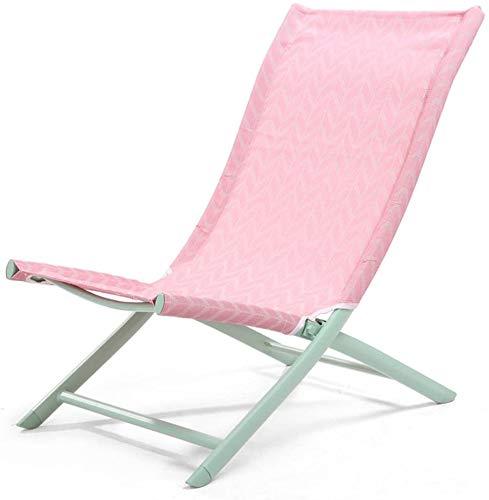Folding Liegestuhl faul zurück Strandkorb Freizeit Mittagspause Schlaf Stuhl,Pink