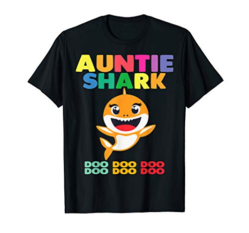 Auntie Shark Doo Doo T-Shirt Funny Kids Video Baby Daddy T-Sh