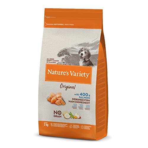 Nature's Variety Original No Grain - Pienso para perros junior con salmón sin espinas 2 Kg