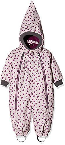 Racoon Baby-Mädchen Betty Heart (Wassersäule 9.000) Schneeanzug, Mehrfarbig (Violet Ice VIO), 98