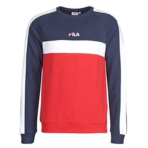 Fila Felpa Uomo 687986 Sasson Crew Sweater Blu - Rosso - Bianco (46 S Italia)