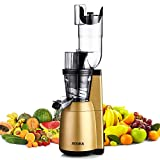 Slow Masticating Juicer, ROVKA High Vitamins and Nutrient Juice Extractor, 3.15 Inches Wide Chute Cold Press Juicer for Vegetable and Fruit