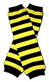 BLACK & YELLOW STRIPES (BEE) - Baby Leggings/Leggies/Leg Warmers for Cloth...