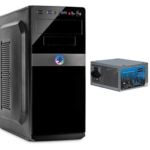 IT-5908 ATX MidiTower PC Computer Gehäuse mit USB 3.0 Frontanschluss & 500 Watt silent Netzteil