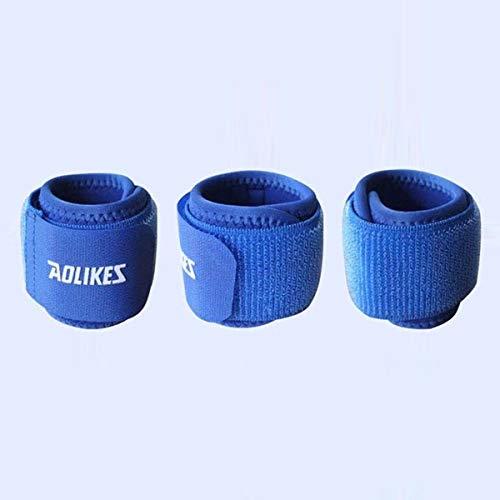 HaiQianXin Soporte de muñeca de Mano Extra Grande Muñequera Protector Envoltura Gimnasio Gimnasio Deportes Fitness Guard (Color : Azul)