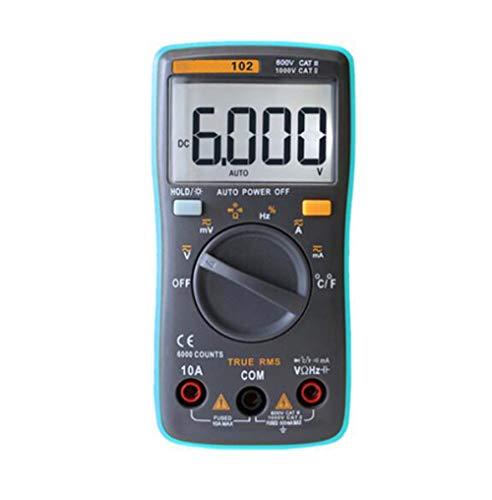 BEVANNJJ ZYY Multímetro Digital 6000 Cuentas de luz de Fondo AC/DC voltímetro del amperímetro Ohm portátil Medidor de Tensión 098/100/109/111, RM102